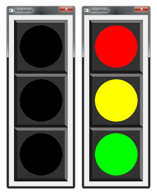 Image of the traffic light
